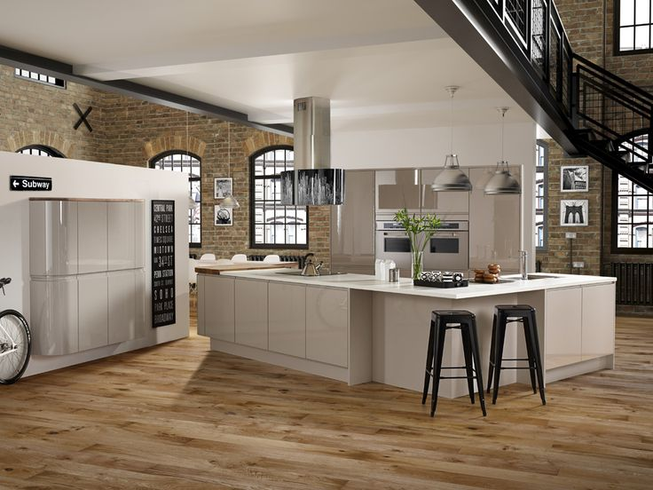 Modern   New York Cashmere Grey   Symphony / Gallery Kitchens Like This  From UK Kitchens. Kitchens And BathroomsModern ...