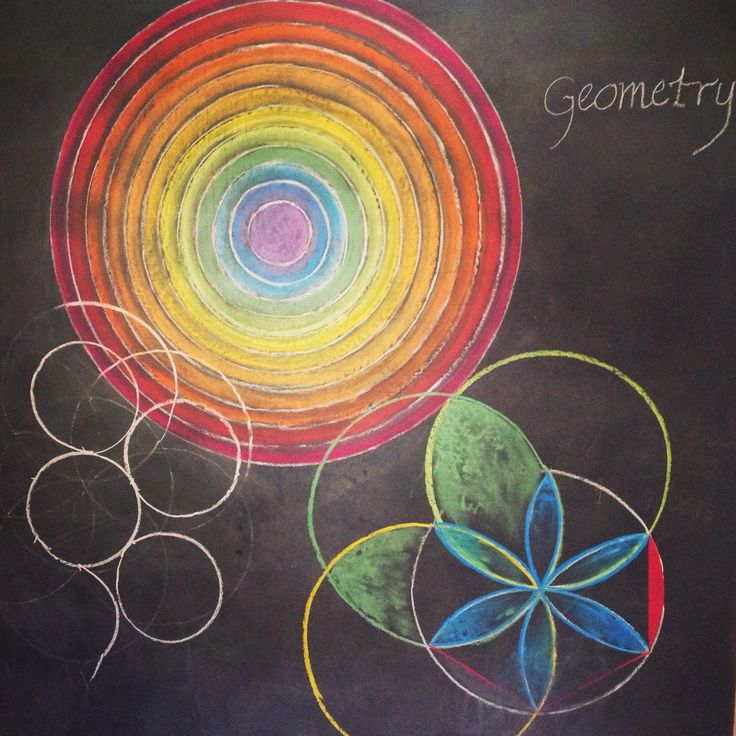 Age 12 ~ Geometric Drawing ~ Concentric Circles ~ chalkboard drawing