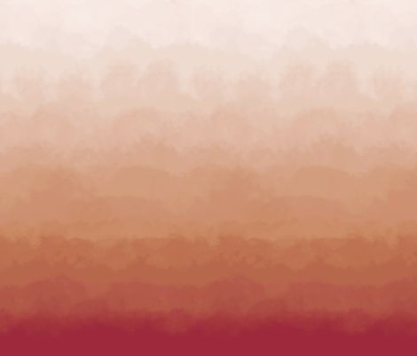 Ombre Cloud Mural In Sunset Fabric By Sparrowsong On