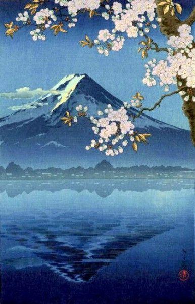 Lake Kawaguchi, by Tsuchiya Koitsu, 1936, Japan