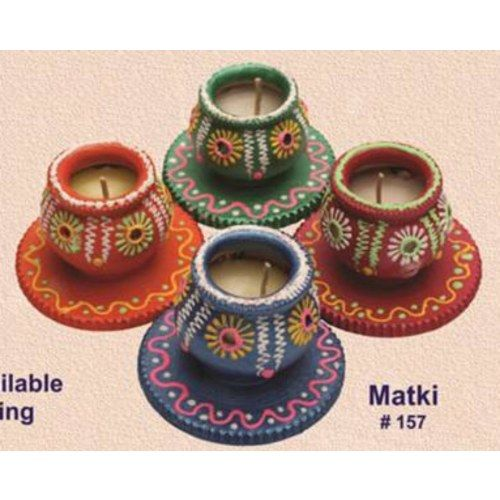 Handmade earthen Matki Diya set of 4 - Redefining Tradition - 157rp  - Online Shopping for Diyas and Lights by Muhenera