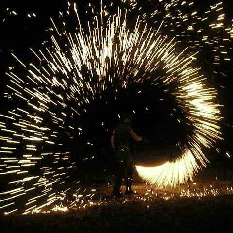 Stunning Steel Wool Sparkling Gif