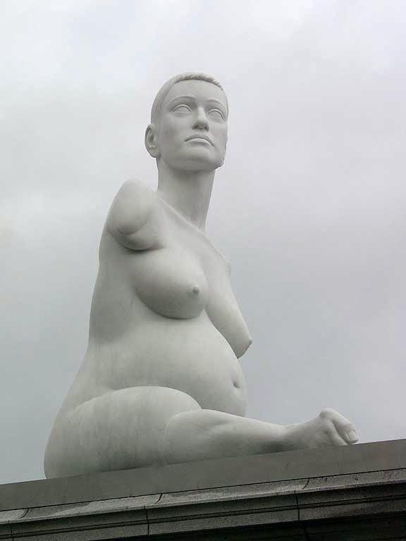 Alison Lapper Pregnant by Marc Quinn, Fourth plinth, Trafalgar Square, London,
