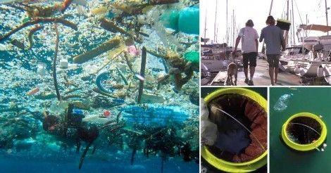 Una pareja de amigos surfistas diseñó un cesto que puede limpiar los océanos del mundo