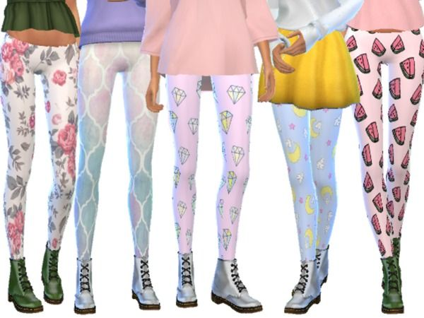 Tumblr Themed Leggings Pack Nine by Wicked_Kittie at TSR • Sims 4 Updates