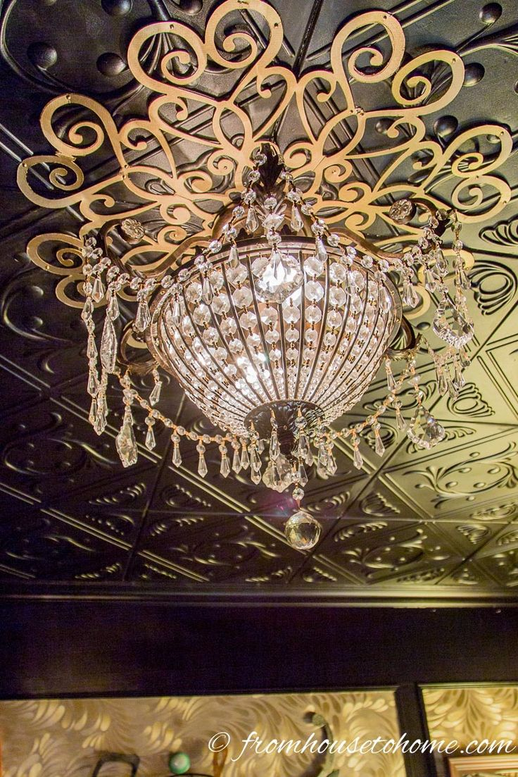 DIY Lace Ceiling Medallion