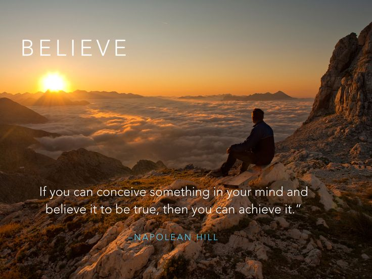 Conceive it. Believe it.