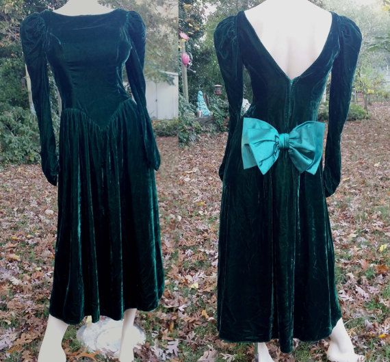 80s Green Cocktail Dress