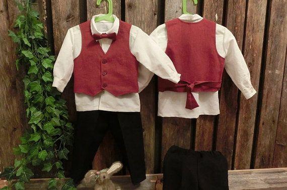 Boys Christmas suit.Boys formal outfit.Wine by englaCharlottaShop
