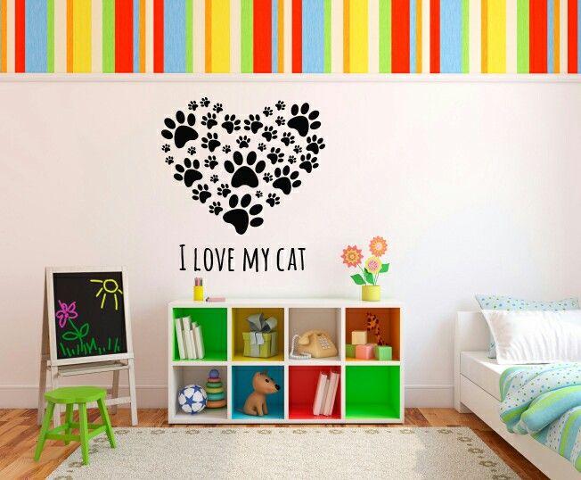 Cod: ANI-001. Tamaño: 80 cms ancho x 88 cms alto - Valor: $ 72.100 - Tamaño: 120 cms ancho x 130 cms alto - Valor: $ 106.600 #VinilosDecorativos #Vinilos #Vinilos4Home #Decoracion #VinilosPersonalizados #Mascotas #Paticas #Gatos #Habitaciones #Espacios #ILoveMyCat #cat