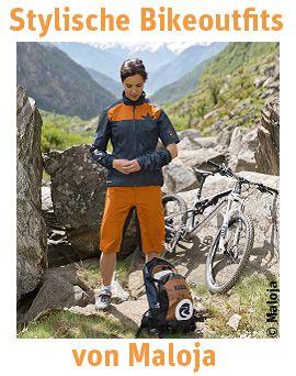 Modische Fahrradbekleidung von Maloja. - Bike, Outfit, Radfahren, Maloja, naturzeit, Trikot, Fahrradhose, Fahrradjacken, stylisch, Fahrradbekleidung,