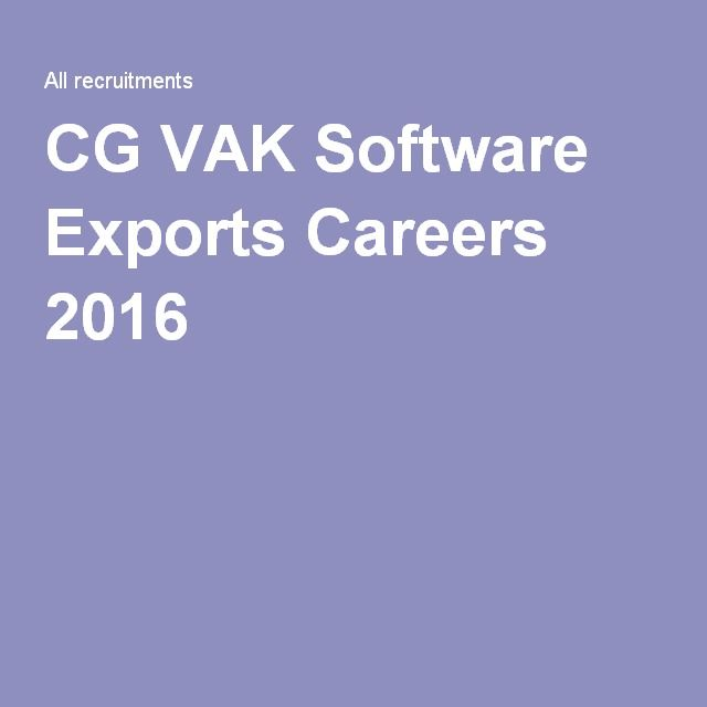 Image result for CG VAK Software Careers 2016