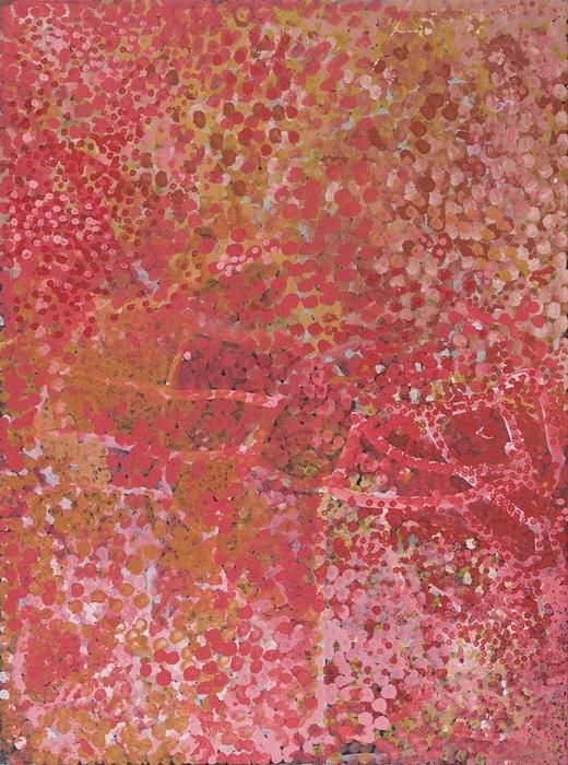 """""""Alhalkere, Yam and Water Dreaming 1992"""" Emily Kame Kngwarreye"""