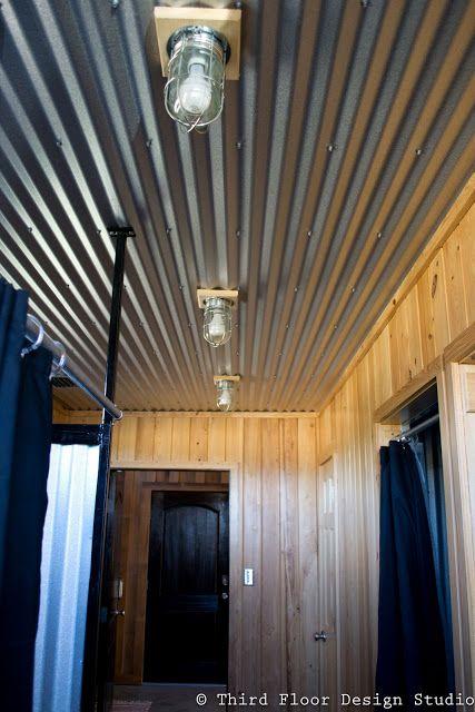 Tin ceiling--great idea.