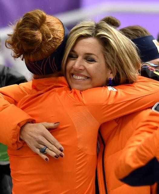 10 February 2018 - King Willem Alexander and Queen Máxima are in South Korea to support the athletics of the Netherlands at the Winter Olymipic Games