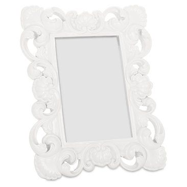 baroque frame 4x6 white