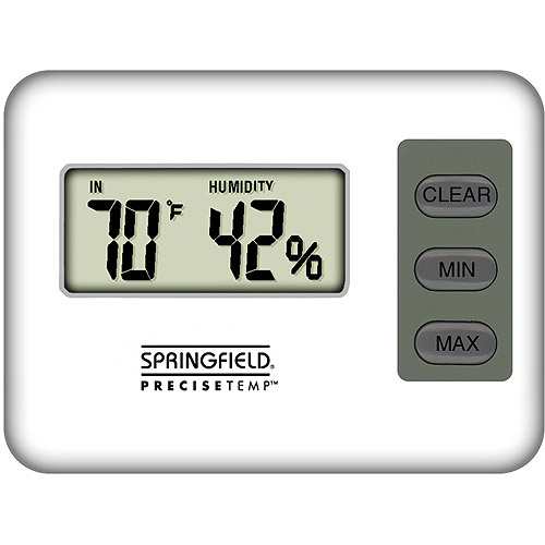 hygrometer to measure humidity to help control mold spores in the home and lessen allergens