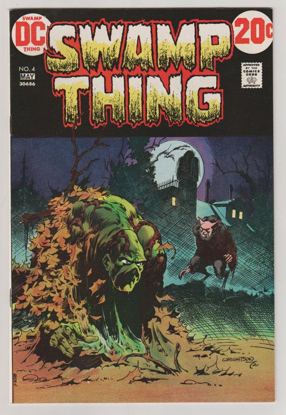 Swamp Thing V1 4.  NM. May 1973.  DC Comics. by RubbersuitStudios #swampthing #berniewrightson #comicbooks