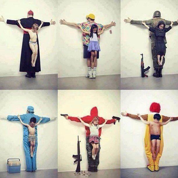 Жесткая социально-политическая реклама против 6 смертных грехов, совершаемых в отношении детей. Педофилия в католической церкви, детская проституция в Тайланде, малолетние солдаты в Сирии, продажа детей на органы, свободный доступ к оружию в США, детское ожирение.