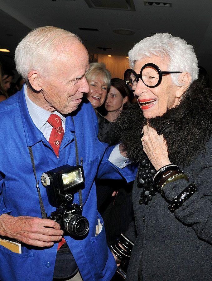 Iris Apfel with Bill Cunningham - two legends