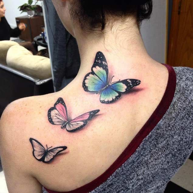 Butterfly Tattoos on Back by Alec Turner