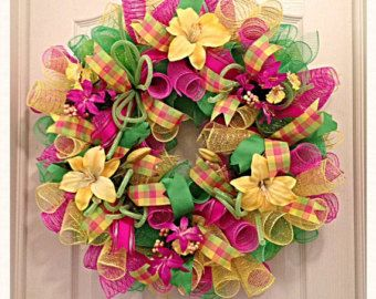 Butterfly Deco Mesh Wreath/Purple Pink and by CKDazzlingDesign