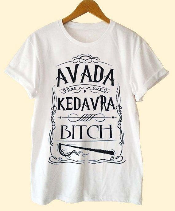 avada kedavra bitch harry potter clothing T Shirt Mens and T Shirt Girls customized on Etsy, CHF 15.06