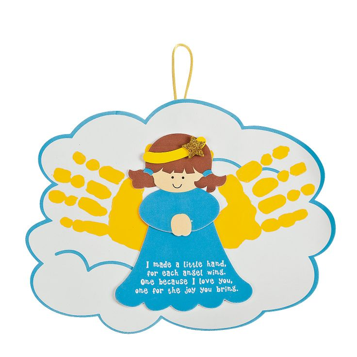 Angel Handprints Poem Ornament Craft Kit - OrientalTrading.com