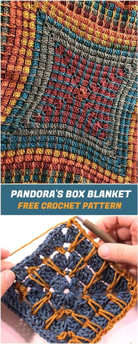 Pandora's Box Blanket - Free Crochet Pattern and Tutorial