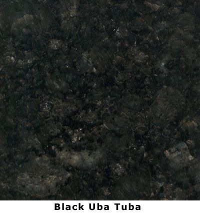 Black Granite Countertops On Black Uba Tuba Granite Lake