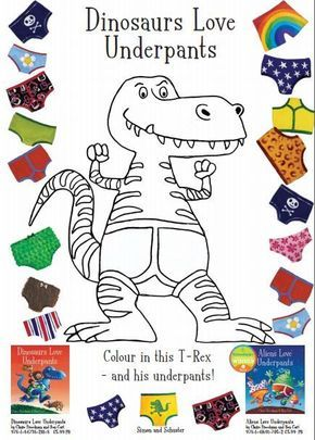 Dinosaurs Love Underpants Coloring Page Dinosaur