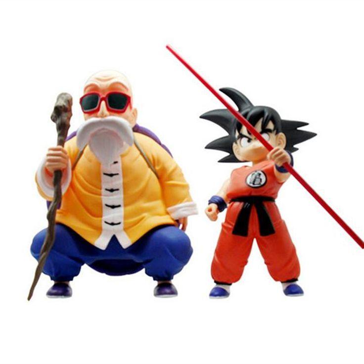 2 pcs/lot Dragon ball  z action figures toys Muten-Roshi goku 2016 New 21cm Dragon ball z  Anime collectibles resurrection