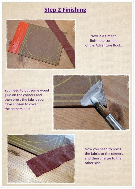How to make a scrapbook. Adventure Book Up Pixar - Step 18