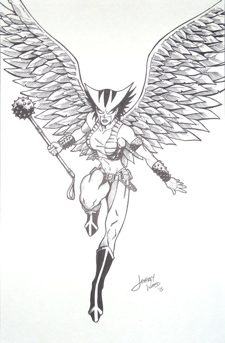 coloring pages of hawkgirl - photo#12