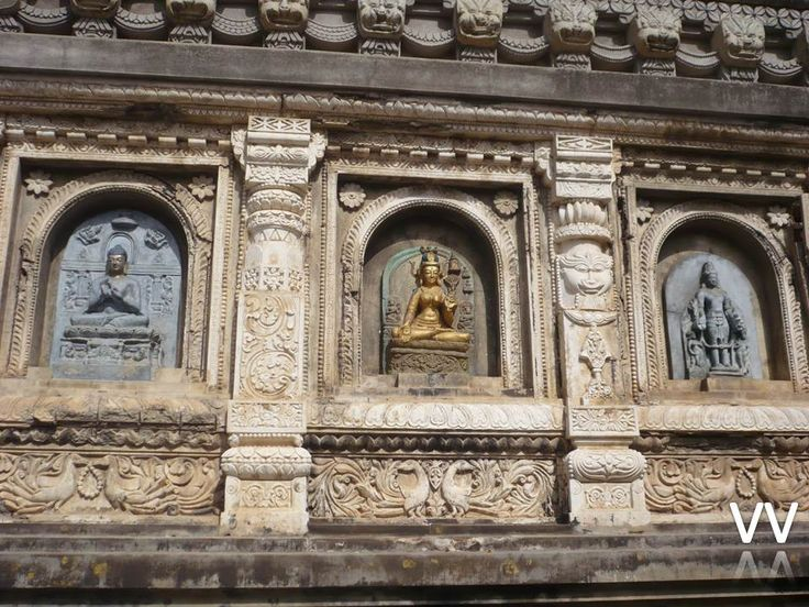 The Mahabodhi Temple-Bodhgaya.  At This Place Prince Sidhartha maditated and obtained the Enlightenment. This is the main pilgrimage for Buddhists. Emperor Asoka is considered to be the founder of the Mahabodhi temple.