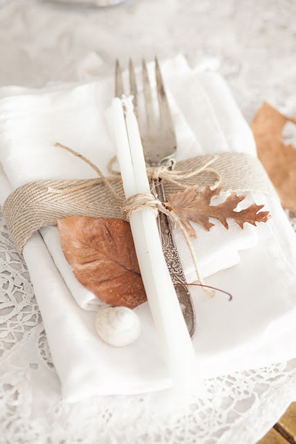 ♕ another pretty idea for an autumn table