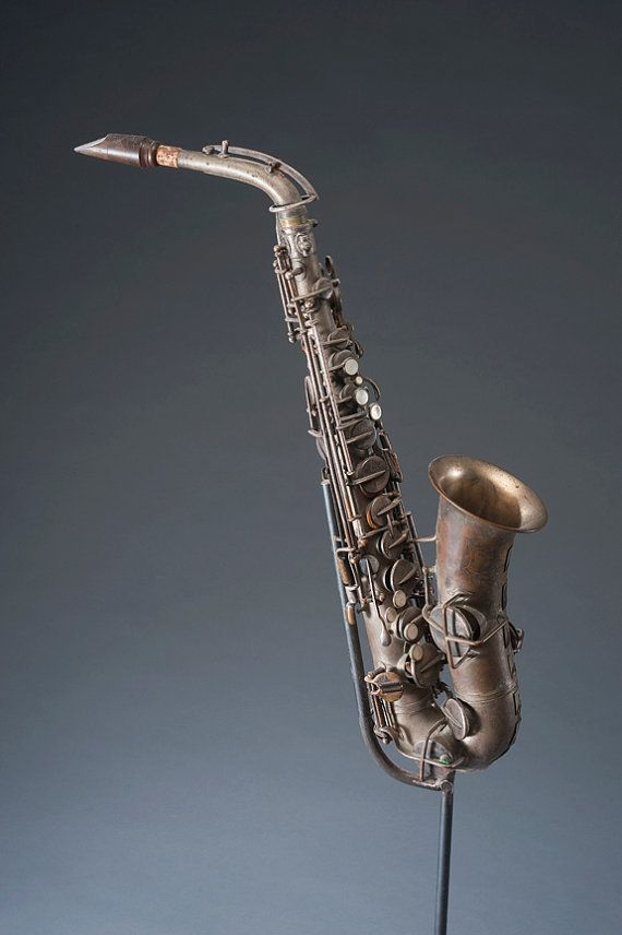 SAXOPHONE ASSEMBLAGE SCULPTURE Vintage Saxophone Musical