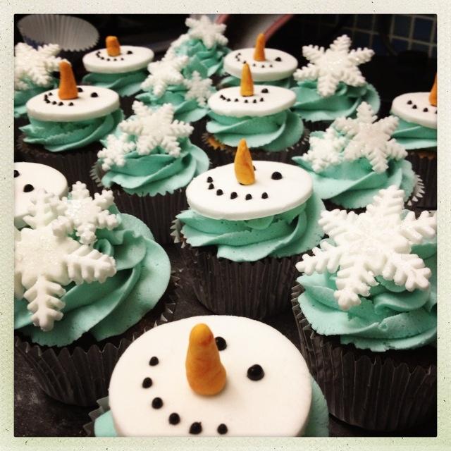 Winter Chocolate Cupcakes