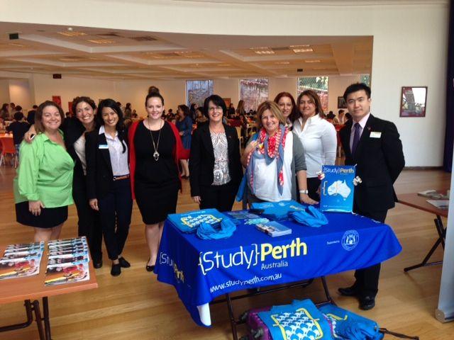 Murdoch rep (far right) with StudyPerth delegation at Enkara School
