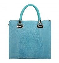 DD-Exclusive shopper suede/croco light blue