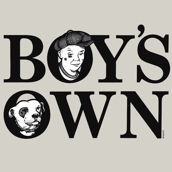 Boys Own logo by Dave Little www.davelittle.co.uk
