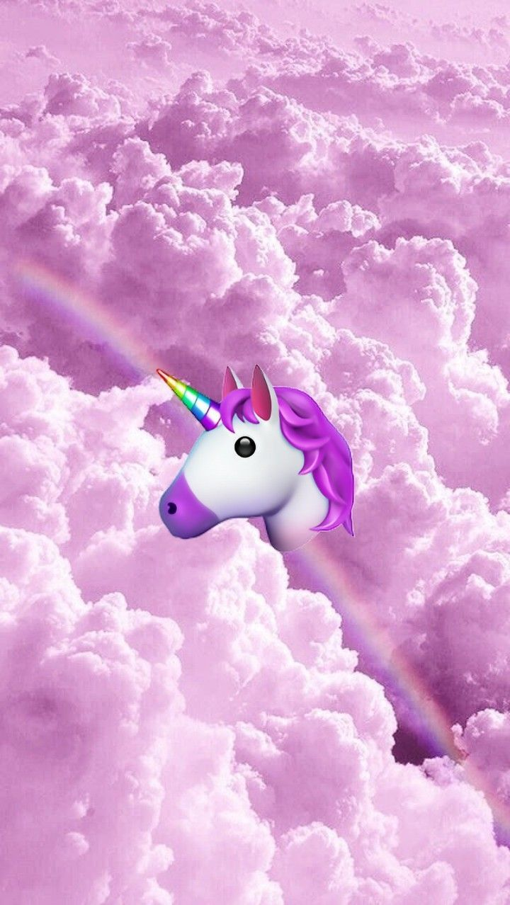 Frozen Rainbow Unicorn Mocktail Emoji Wallpaper Emoji