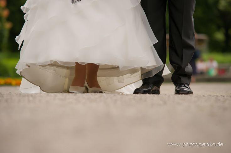 Hochzeit Brautschuhe Pumps weiß und Schuhe für den Bräutigam