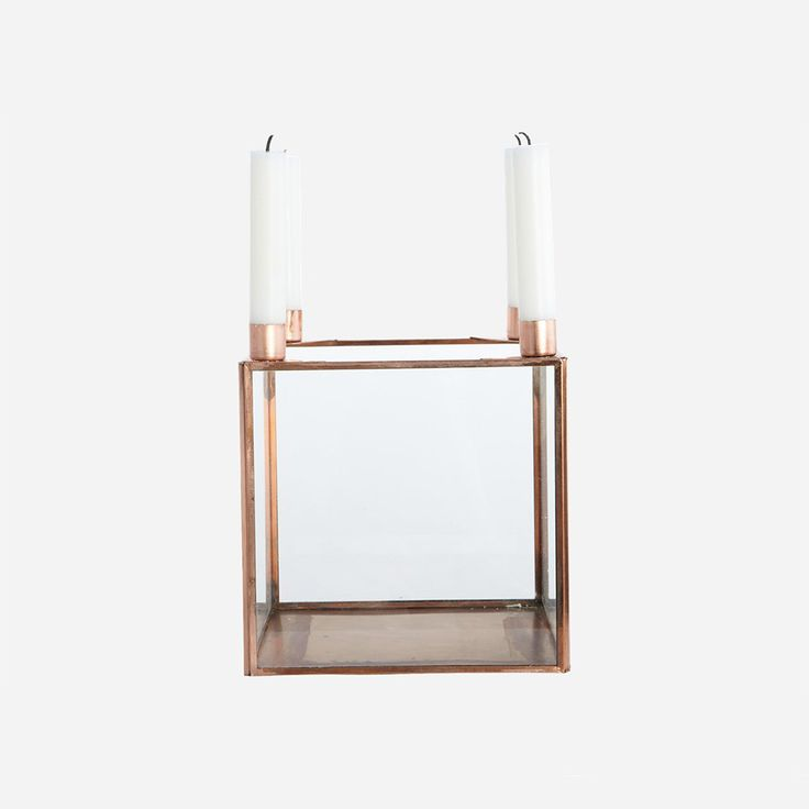 Square Candle Holder, Copper, House Doctor