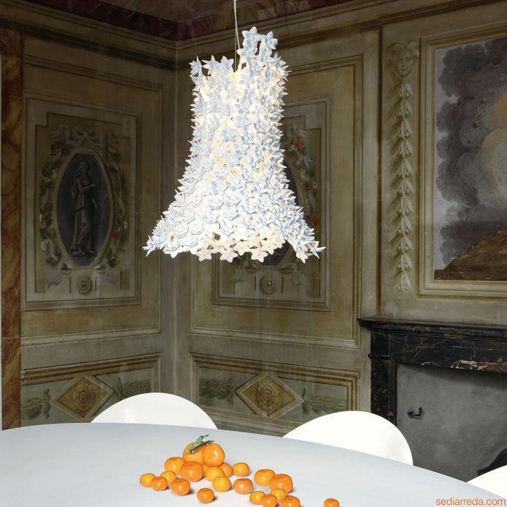 Bloom | Kartell suspension ceiling lamp, in white colour