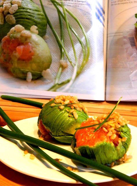Madame Anne aux fourneaux: Boules d'avocat farcies au tartare de saumon croustillant