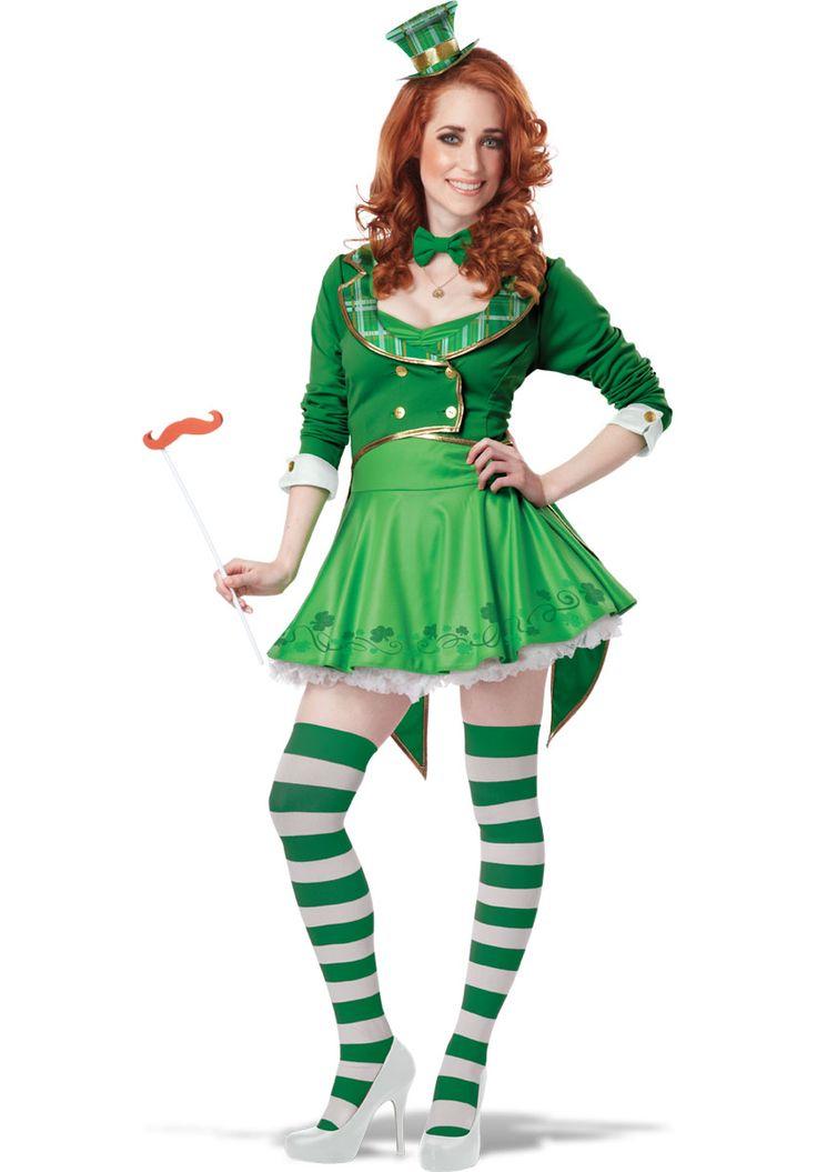 Ladies Lucky Charm Leprechaun Costume - Fairy & Angel Accessories at Escapade