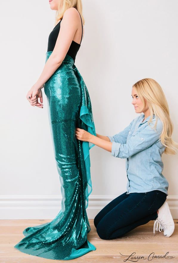 Lauren Conrad's DIY Halloween Mermaid Costume