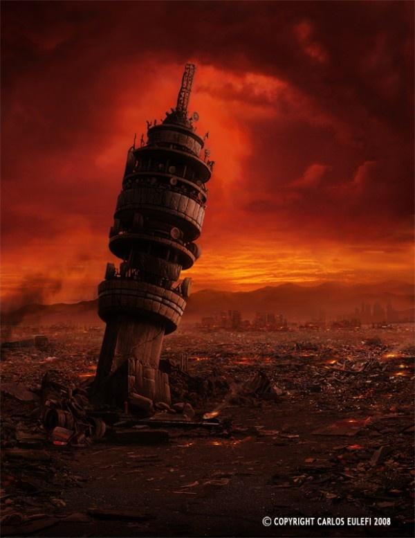 Amo esta obra de Carlos Eulefi, es apocaliptica pero de texturas bellas