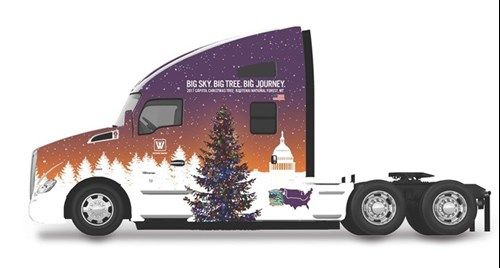 "Whitewood Transport T680 To Carry ""The People's Tree"" to Community Celebrations En Route to Washington, D.C. A Kenworth T680 Advantage will transport the 53rd U.S. Capitol Christmas Tree from the Nov. 8 tree-cutting in the Kootenai National Forest in Montana to 15 community celebrations during the more than 2,000-mile journey en route to the tree-lighting …"